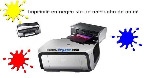 Error U163, Imprimir con un cartucho menos en impresoras Canon