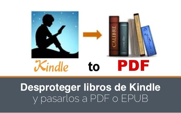 Pasar Kindle a PDF