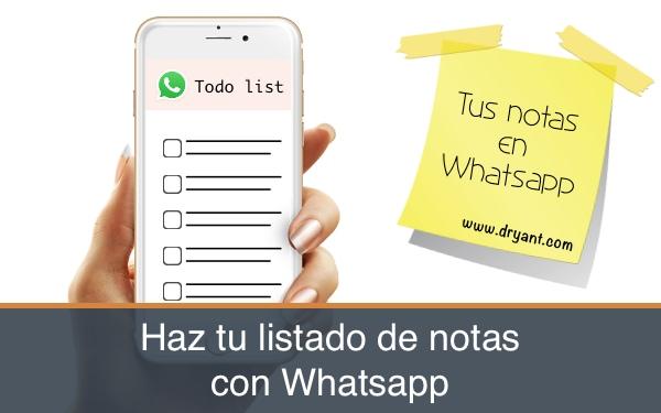 Listado de notas con WhatsApp