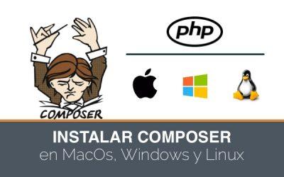 Cómo instalar Composer en MacOS. Última versión.