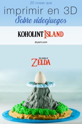 Koholint Isla de The Legened of Zelda para impresion 3D