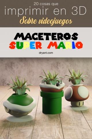Maceteros Mario Bros de Tubería, Toad y Koopa