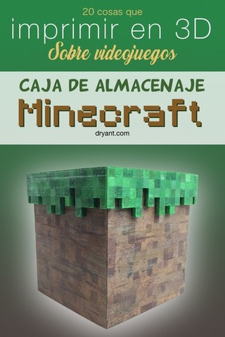 Caja de almacenaje Minecraft para impresion 3D