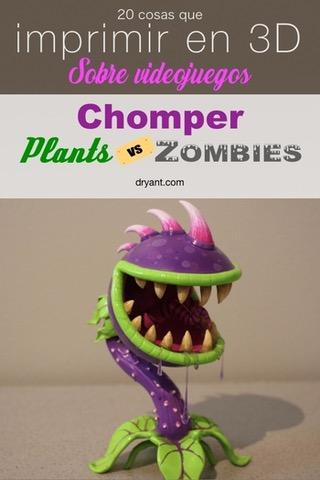 Planta Carnivora plantas vs zombies para impresion 3D