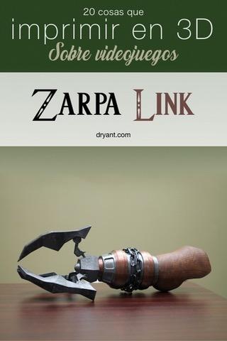 Zarpa del juego The Legend of Zelda para impresión 3D