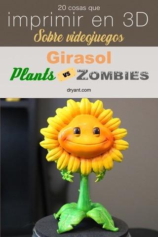 """Planta Girasol de """"Plantas contra Zombies"""" para imprimir en 3D"""