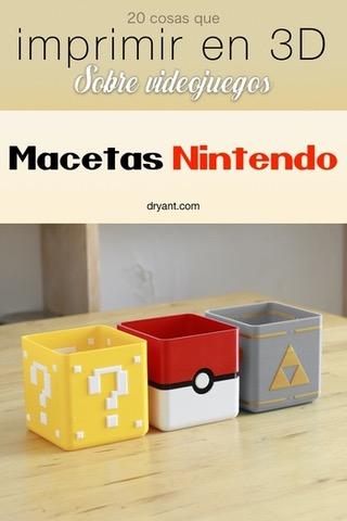 Maceteros de los videojuegos Mario Bros, Pokemón y Zelda