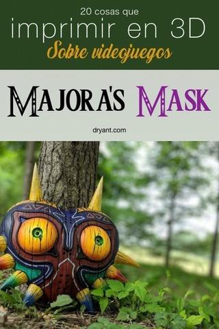 """Máscara de Majora, del juego """"The Legend of Zelda: Majora's Mask"""" para impresión 3D"""