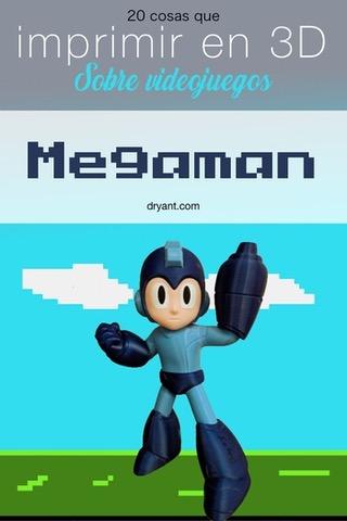 Figura de Megaman para impresora 3D