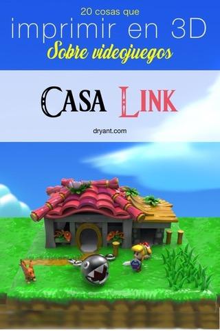 Casa de Link con Chomp y Link para imprimir en 3D