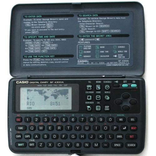 Agenda electrónica digital. Un gadget vintage muy funcional.